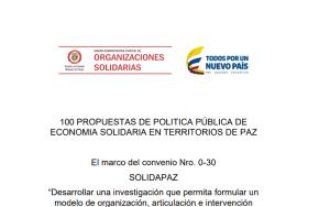 100 Propuestas de Política Pública de Economía Solidaria en Territorios de Paz