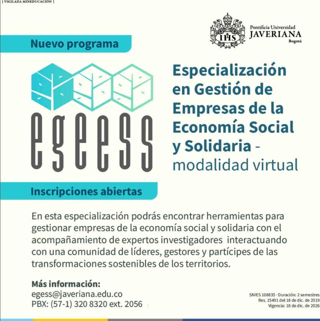 Especialización en Gestión de Empresas de la Economía Social y Solidaria