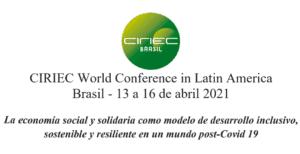 Invitación CIRIEC World Conference in Latin America – Brasil, Abril 2021