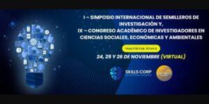 Convocatoria IX Congreso de Investigadores en Ciencias Sociales, Económicas, y Ambientales